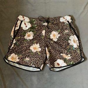 Zara Leopard Floral Print Swimsuit